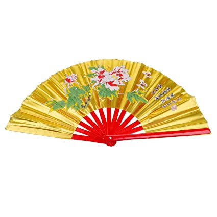 Aship Peony Patterns Martial Arts Fan - Tai Chi Kung Fu Fan/Karate  Fans/Bamboo Fans Martial Arts Fighting Fans/Chinese Kung Fu Fighting  Fans/Wushu Fan