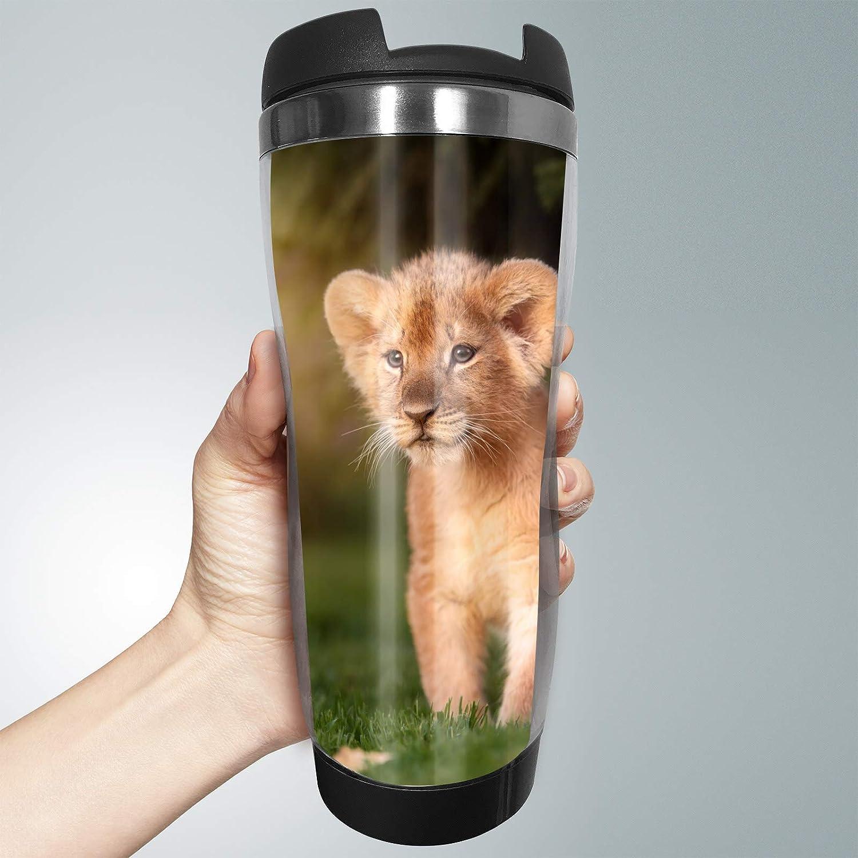 Taza de viaje con diseño de cachorros de león, 330 ml, para ...