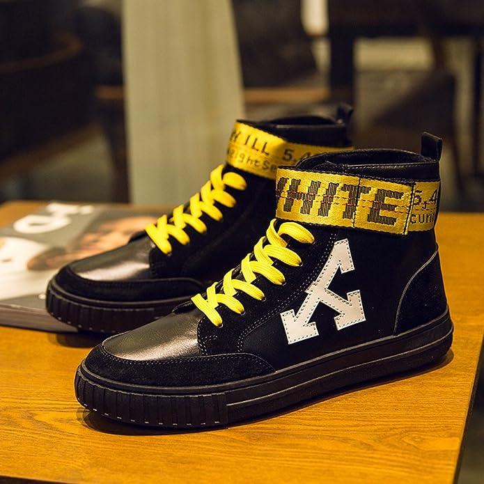 Chaussures de Sport Plates pour Hommes Mocassins Décontractés Multicolore Lace Up Closed High Top Outsole,Chaussures de Cricket (Color : White, Size : 42 EU)