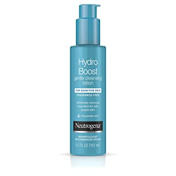 Neutrogena Hydro Boost Gentle Cleansing and Hydrating Face Lotion and  Makeup Remover, 5 Fl  Oz