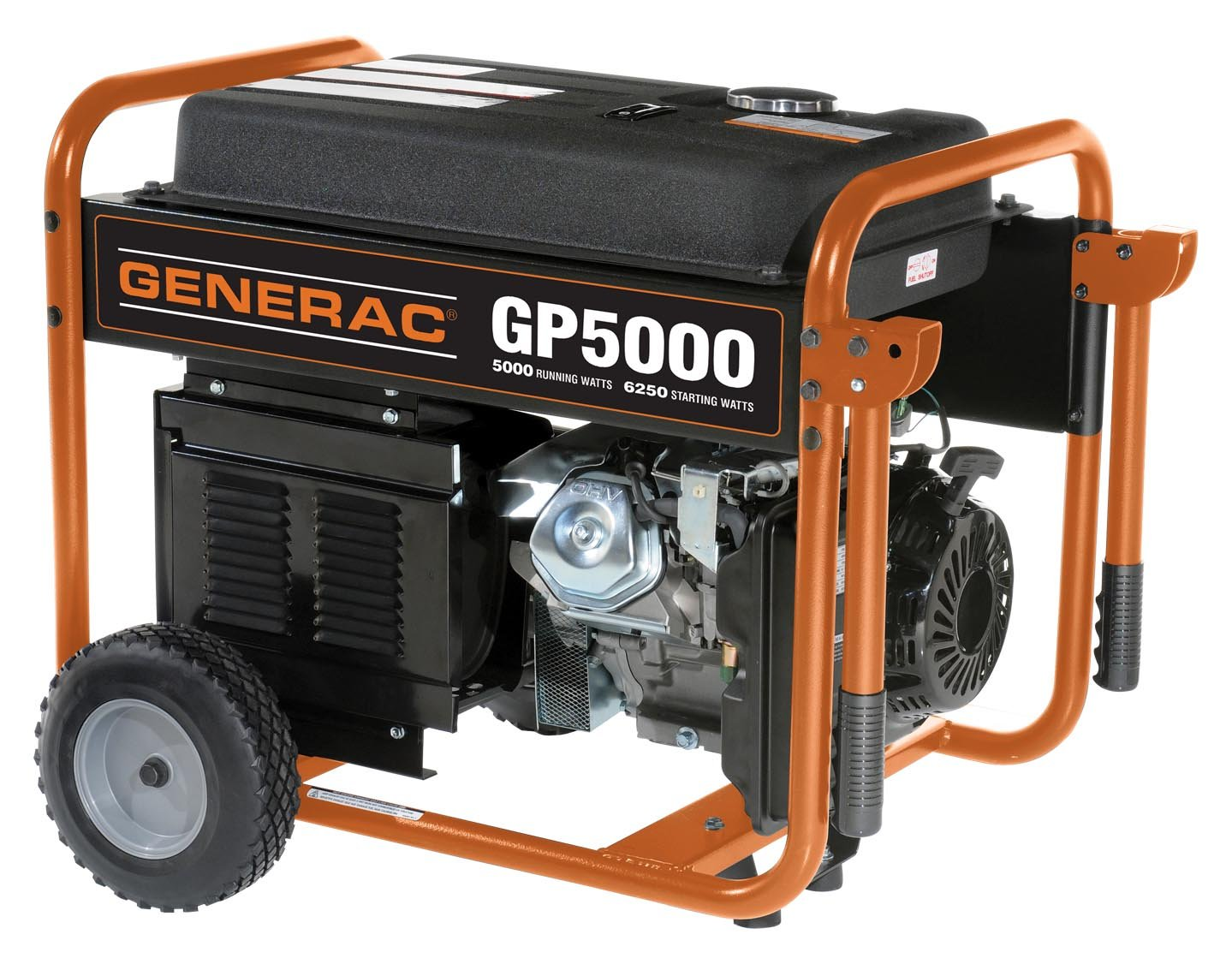 Amazon.com : Generac 5938 GP5000 6, 250 Watt 389cc OHV Portable Gas Powered  Generator (Discontinued by Manufacturer) : Garden & Outdoor