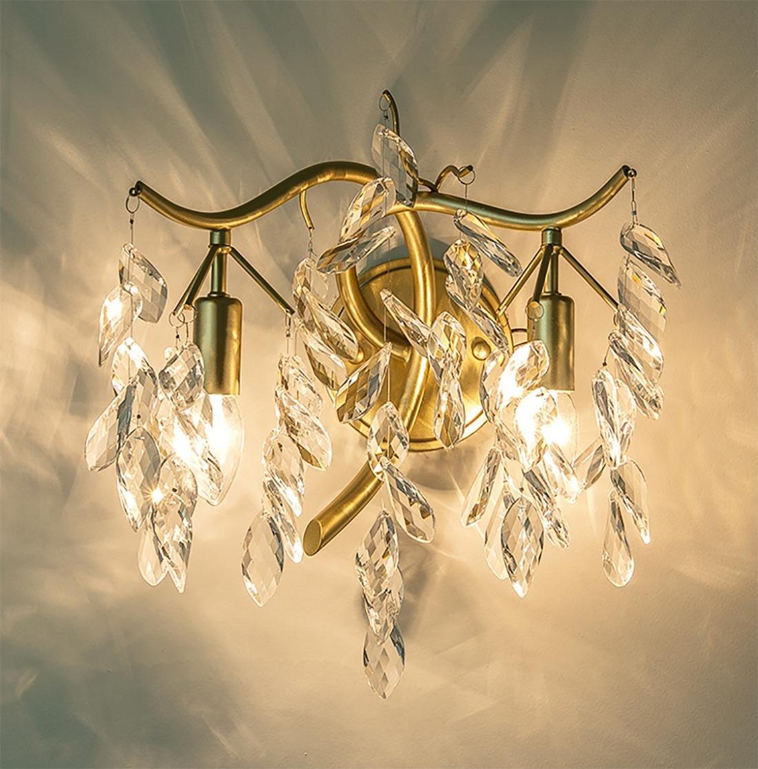 BENJUNNordic Soggiorno Camera da letto Corsia creativa Ferro da stiro cristallo LED lampada da parete  32  30cm