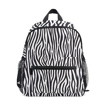 40ee45b91ba7 Amazon.com | DEYYA Zebra Texture Kids Backpack School Book Bag for ...