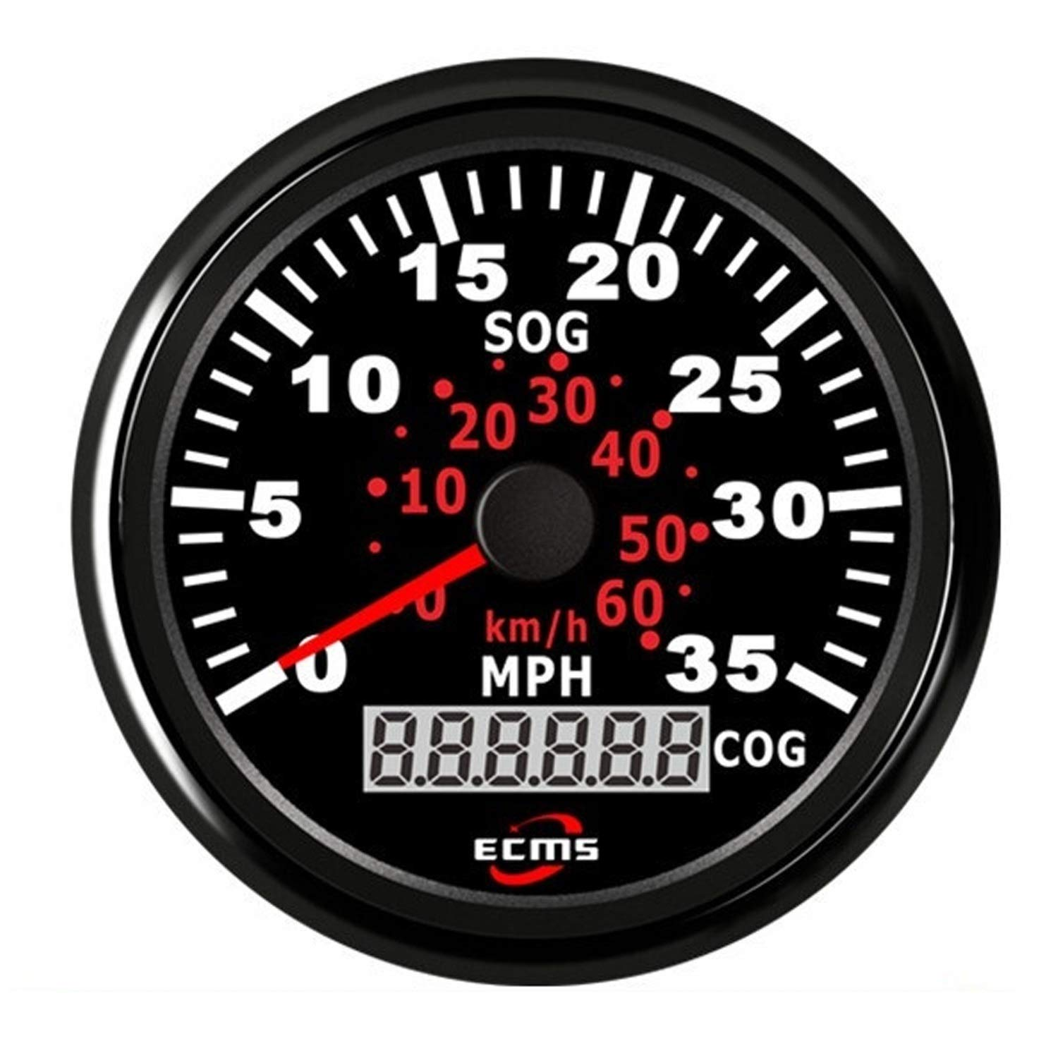 JUNJIAGAO-gauge Low Power Consumption Waterproof Boat Yacht 85mm GPS Speedometer 0-35MPH 0-60KM/H with COG, Waterproof, Lightning-Proof by JUNJIAGAO-gauge