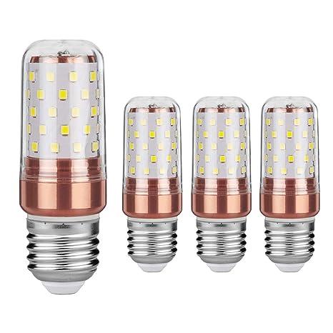 Gezee LED maíz bombilla 12W E27 6000K blanco frío LED Candelabros bombillas, 100W bombilla incandescente