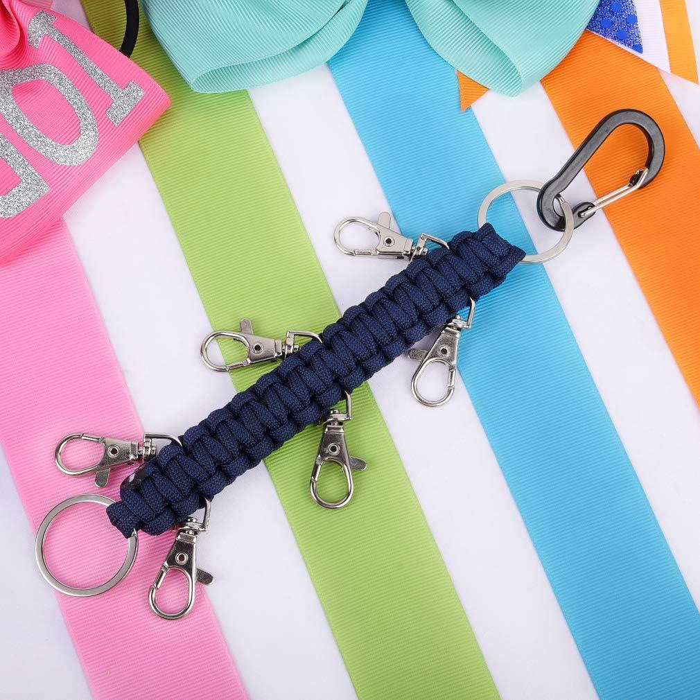 DEEKA Paracord Handmade Cheer Bows Holder for Cheerleading Teen Girls High School College Sports