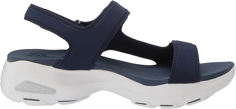 Skechers D'lites Ultra - Camp Cool, Sandalias de Punta Descubierta para Mujer Azul Navy Nvy