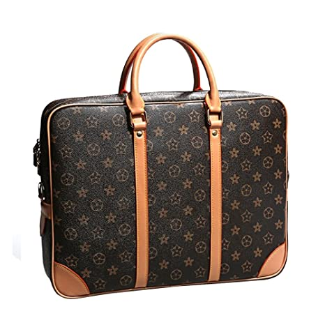 f8793fe6a3 JVPS 112-K1 2018 Classic vecchia borsa a mano in vera pelle marrone borsa  business