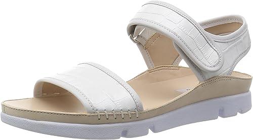 disco Intolerable Contribuyente  Clarks Tri Nova, Women's Sling Back Sandals, White (white Combi), 3.5 UK  (36 EU): Amazon.co.uk: Shoes & Bags