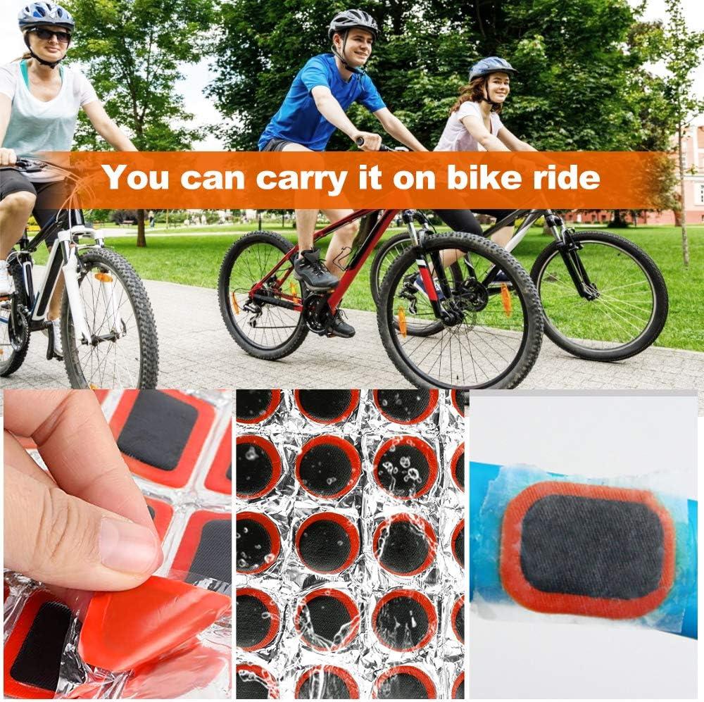 UTRUGAN 192 St/ücke Fahrradreifen Patch Kit Gummi Fahrrad Flicken Flickzeug Rundes Patch-Reparaturset Quadrat Reifenpanne Reparatur-Kit zur Reparatur von Reifen Schl/äuchen Schlauchbooten