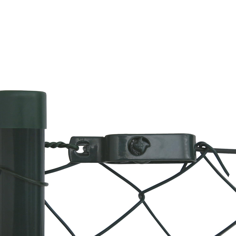 Zaunset Zaun-Set Maschendraht Maschendrahtzaun-Gartenzaun-Set verzinkt und gr/ün beschichtet Maschenweite 6 x 6 cm Drahtzaun Komplettset 0,8 x 15 m