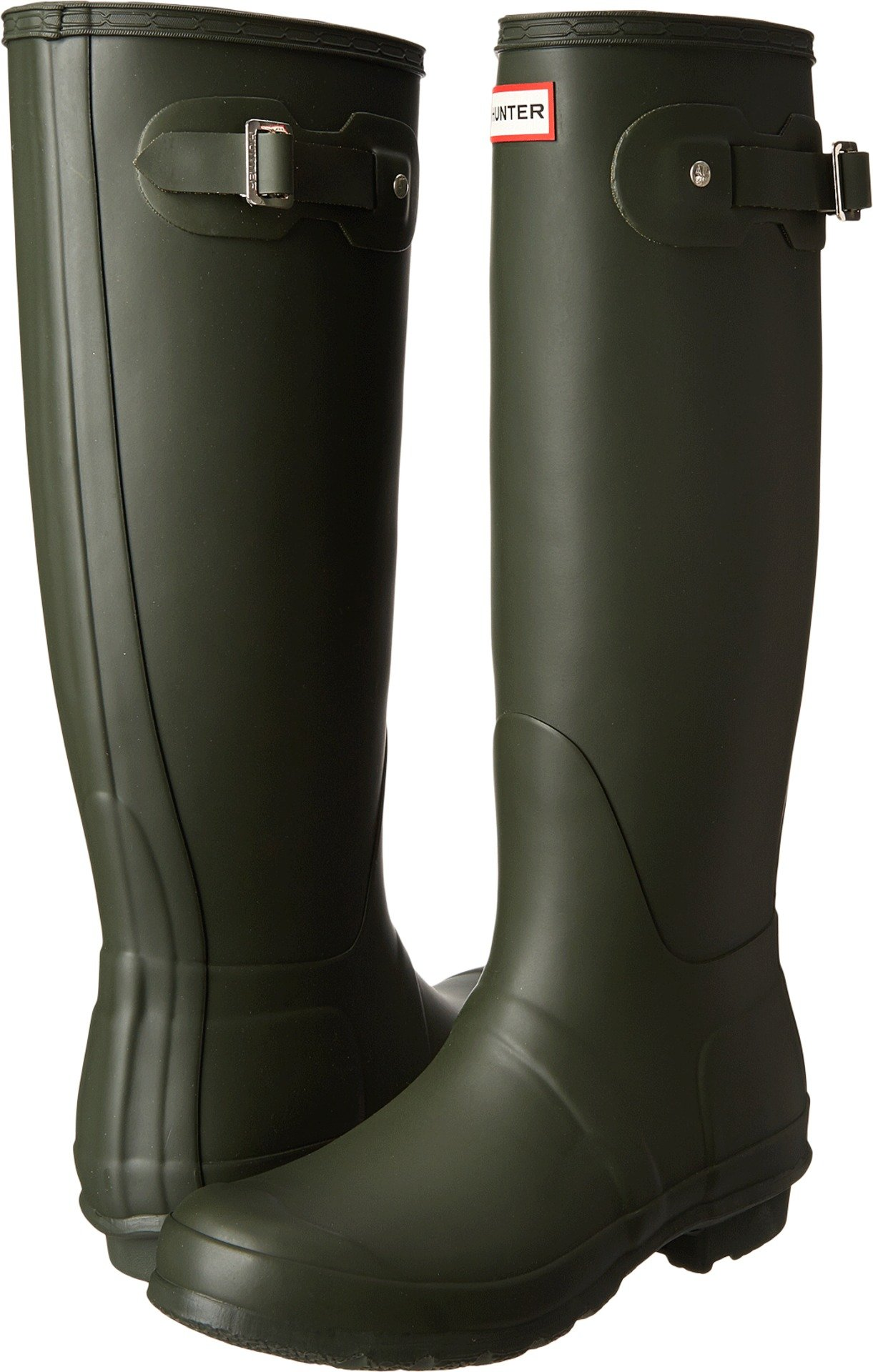 Hunter Women's Original Tall Dark Olive Rain Boots - 9 B(M) US by Hunter
