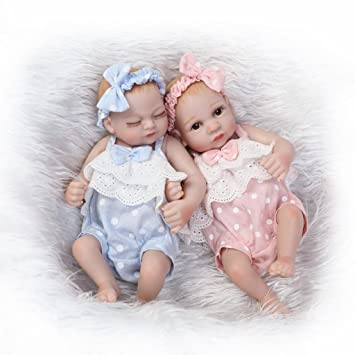 5504cce5823ca Nicery Reborn Baby Doll dur Simulation Silicone Vinyle 25