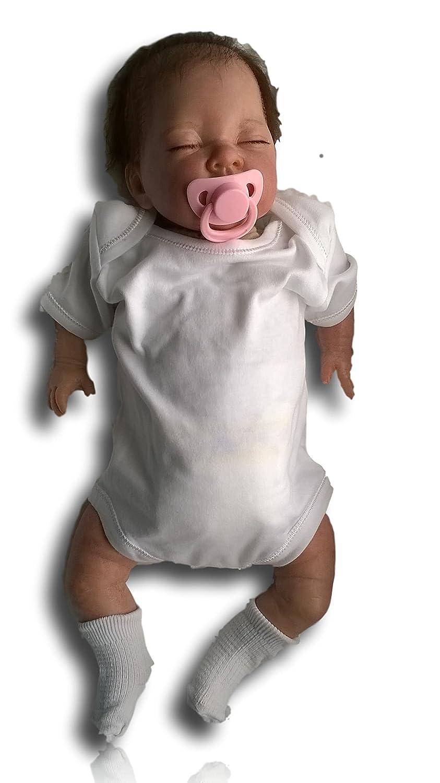 Los niños de Reborn bebé muñeca de niña, 19 cm de largo, con pelo, recién nacido, Real, Asleep, Heavy, UK VENDEDOR
