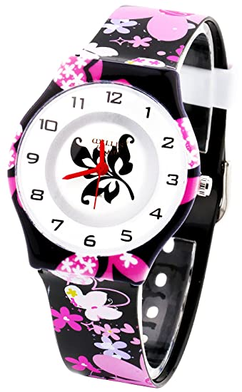 Tonnier Relojes Ultrathin Resin Super Soft Red Band Estudiante Relojes para Adolescentes Niñas