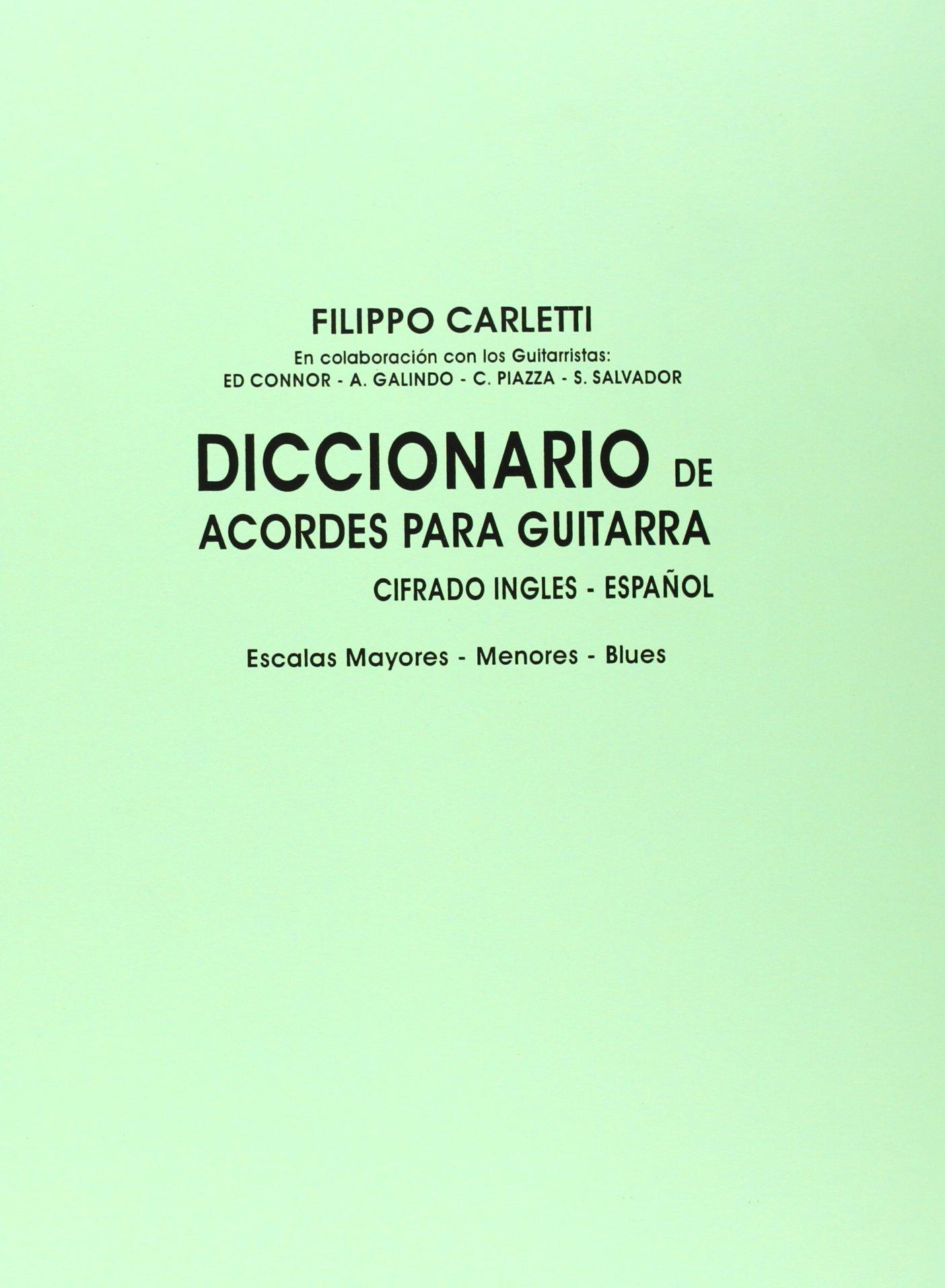 Diccionario de Acordes para Guitarra: Amazon.es: Carletti, Filippo ...