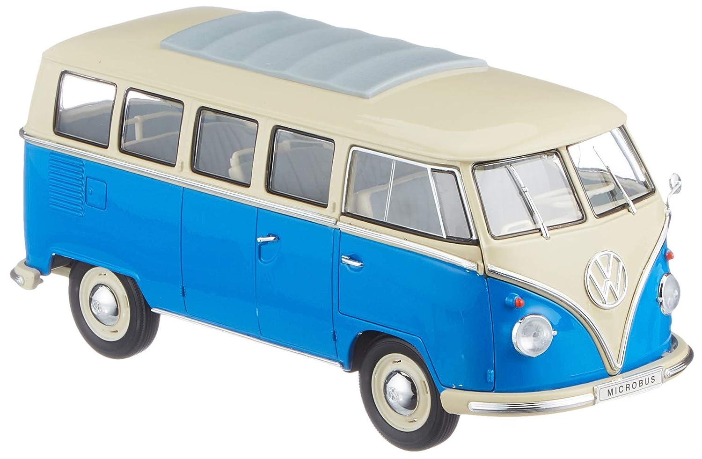 Volkswagen 231099302LRD Model Car T1 1962 1: 18, Colore: Blu/Bianco Volkswagen AG