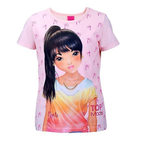 Shirt,Mädchen T-Shirt,Kurzarm Shirt Pink//Rosa