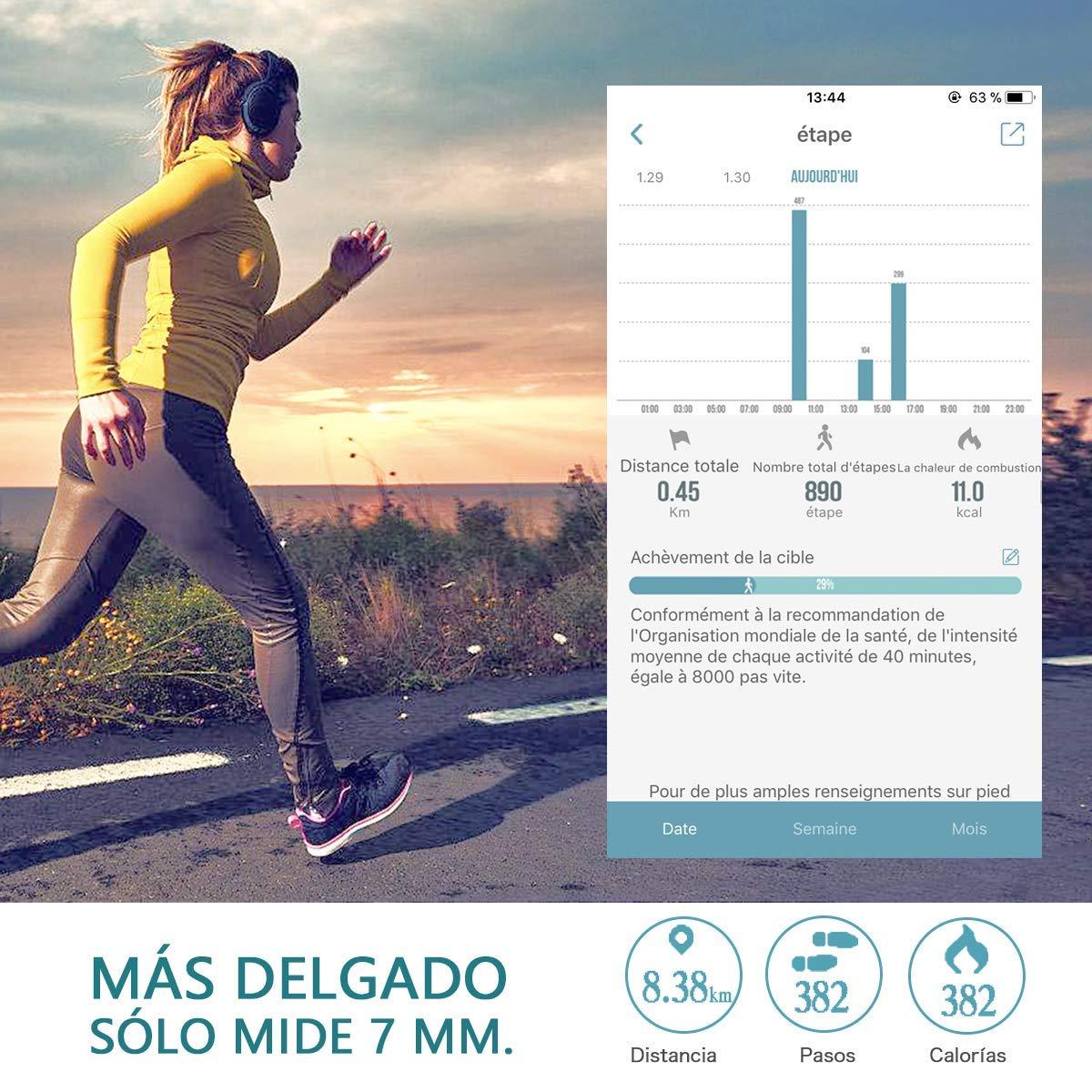 METALBAY Fitness Armband Fitness Tracker Fitnessarmband Sport Armband mit Pulsmesser Aktivit/ät Tracker