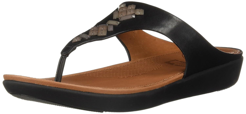 FitFlop Banda Sandales II Crystal Toe Thong Sandales Banda schwarz bd2967