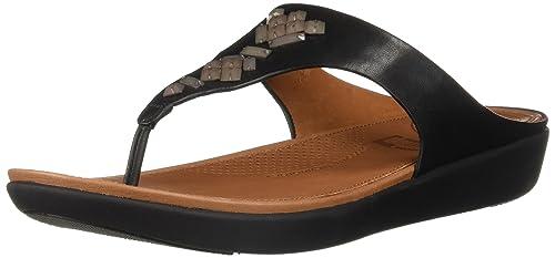226dca1b941 FitFlop Women s Banda Leather Toe-Thong Sandals-Crystal Slide