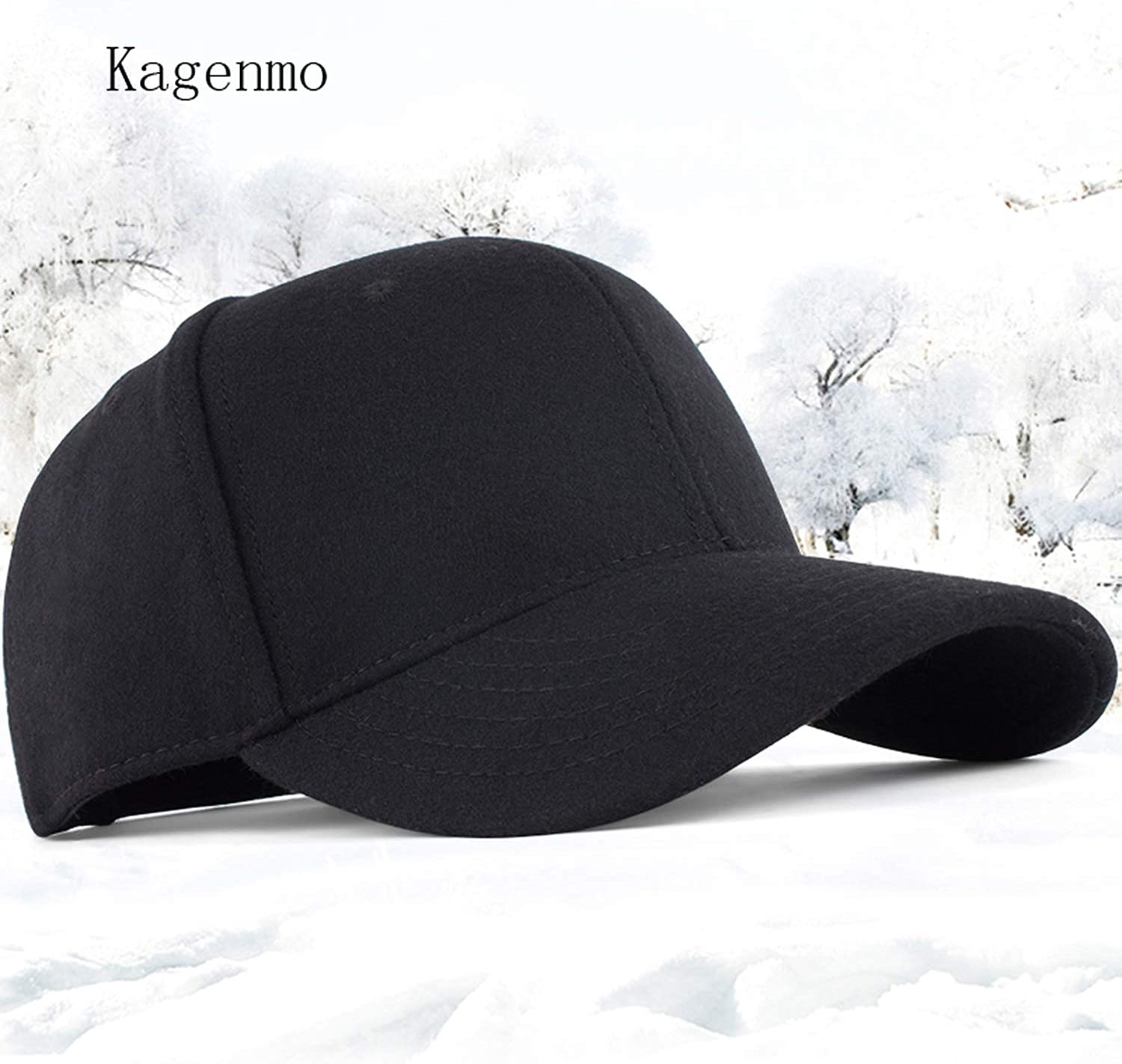 Wilbur Gold Kagenmo Male hat Male hat Woolen Baseball Cap Cap The Elderly Autumn and Cotton hat for Man