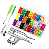 460Pcs 24 Colores T5 Snaps Plástico Corchetes