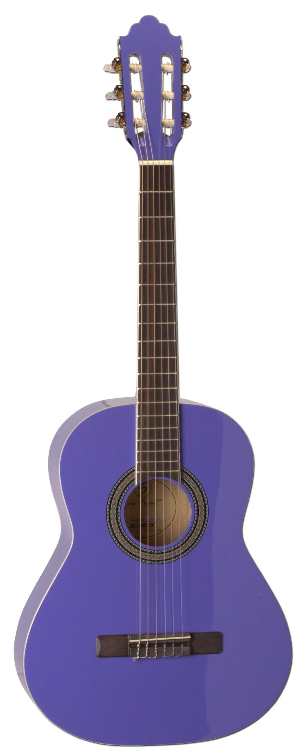 San Mateo San Mateo SCS6 PUR 36-Inch Classical Guitar, Purple