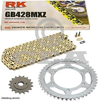 Kettensatz Geeignet Für Kawasaki Kmx 125 B 91 03 Kette Rk Gb 428 Mxz 126 Offen Gold 16 48 Auto