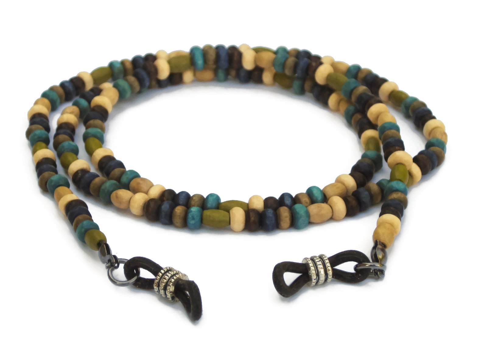 Eyeglass Chain with Wood Beads for Reading Glasses, Sunglasses and Eyeglasses by Silk Rose