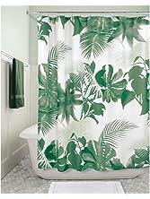 "InterDesign Watercolor Fern Fabric Shower Curtain - 72"" x 72"", Green Multi Color"