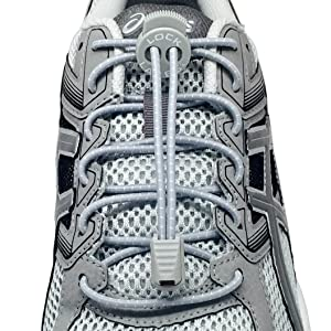 LOCK LACES (Elastic Shoelace and Fastening System) (Grey) (Color: Cool Gray, Tamaño: 48-Inch)