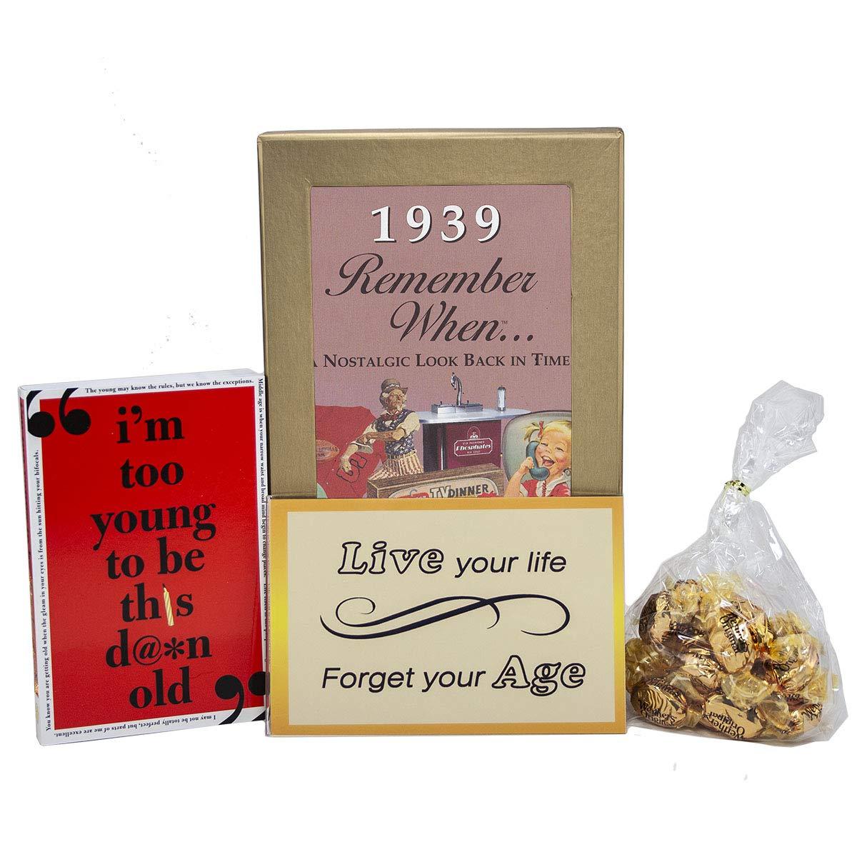 Caja de regalo para 80 cumpleaños, diseño con texto en ...