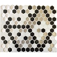 fancy-fix Vinyl Peel and Stick Wall Tile for Decorative Kitchen/Bathroom Backsplash Tiles-Pack of 4 Sheets