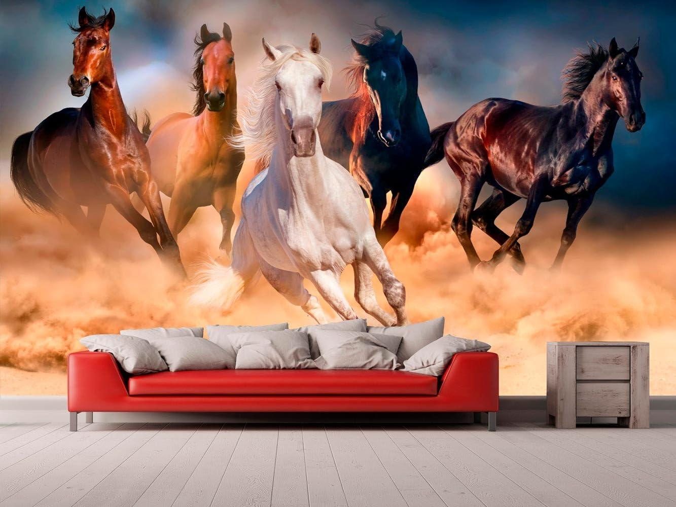 Papel Pintado para Pared Caballos | Fotomural para Paredes | Mural | Papel Pintado | Varias Medidas 200 x 150 cm | Decoración comedores, Salones, Habitaciones.