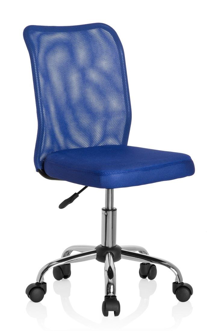 hjh OFFICE 685966 Kinder- und Jugenddrehstuhl KIDDY NET Netzstoff Orange Schreibtischstuhl mitwachsend