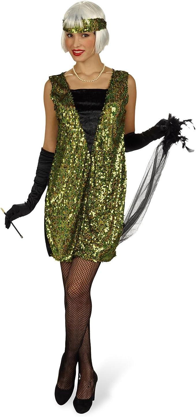 Disfraz de charlestón - vestido de los años veinte, traje con ...