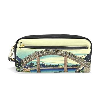 Ahomy - Estuche para lápices, diseño de puente japonés, gran ...