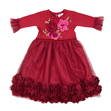 haute baby boutique take me home newborn christmas gown ruby sparkle