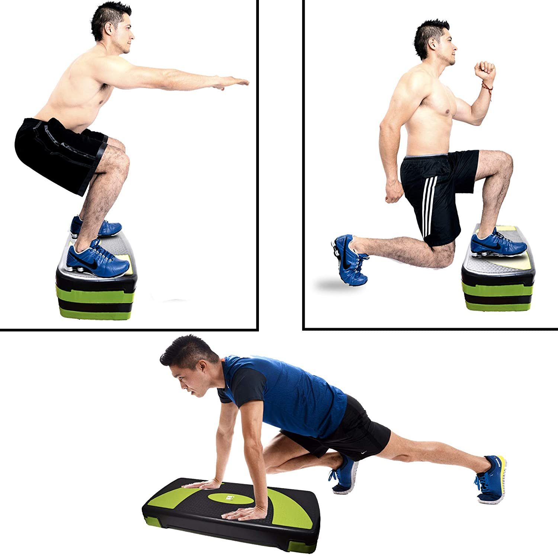 Sporteq Escalera Ajustable de 3 Niveles, Altura de 10 cm, 15 cm, 20 cm: Amazon.es: Deportes y aire libre