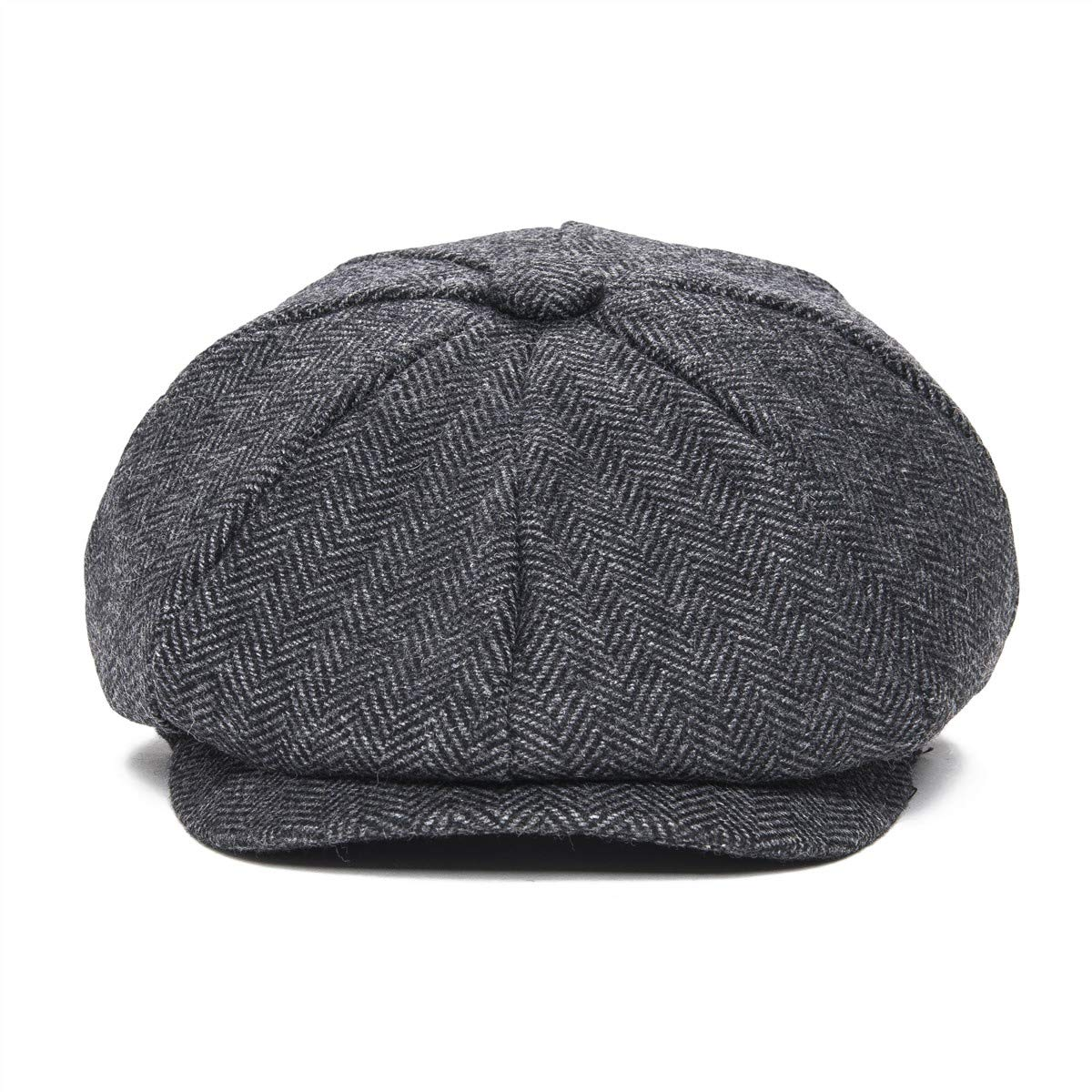 54aa1bf86f4 Amazon.com  JANGOUL Boys Vintage Newsboy Cap Tweed Flat Beret Cabbie Hat  for Kids Toddler Pageboy (50cm(12-24 Months)