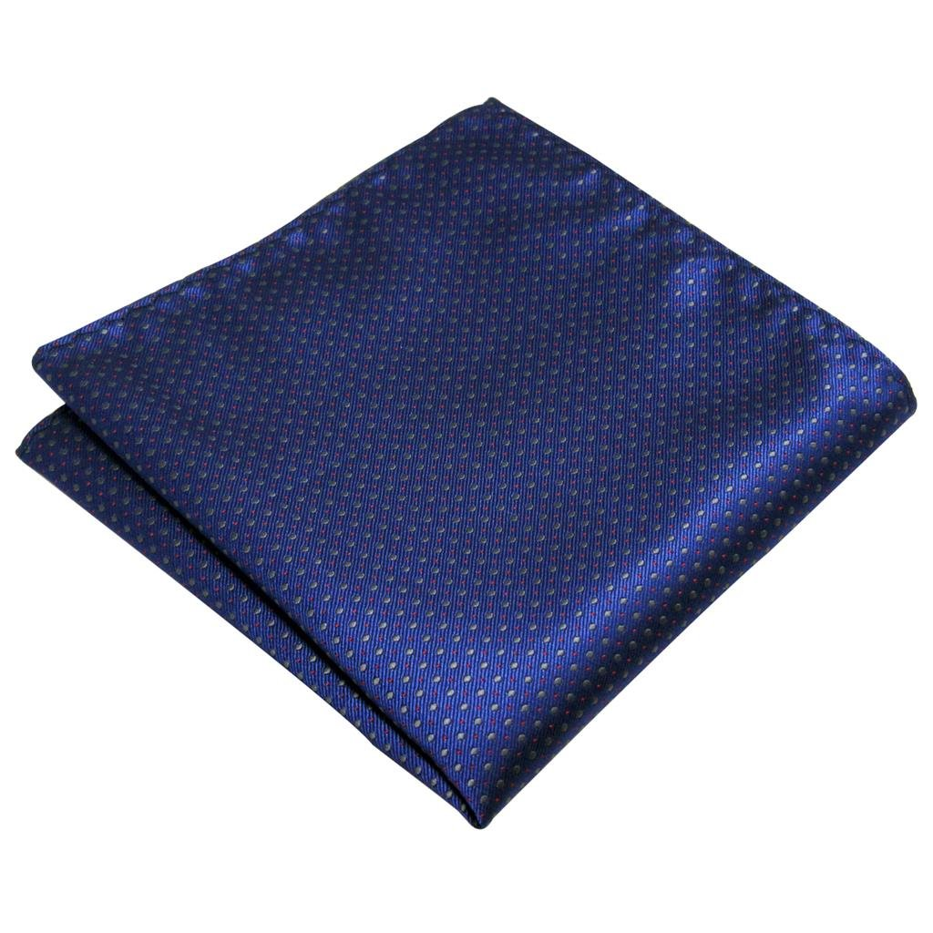 Shlax&Wing Navy Dots Pocket Square Silk Business Handkerchief New YH6