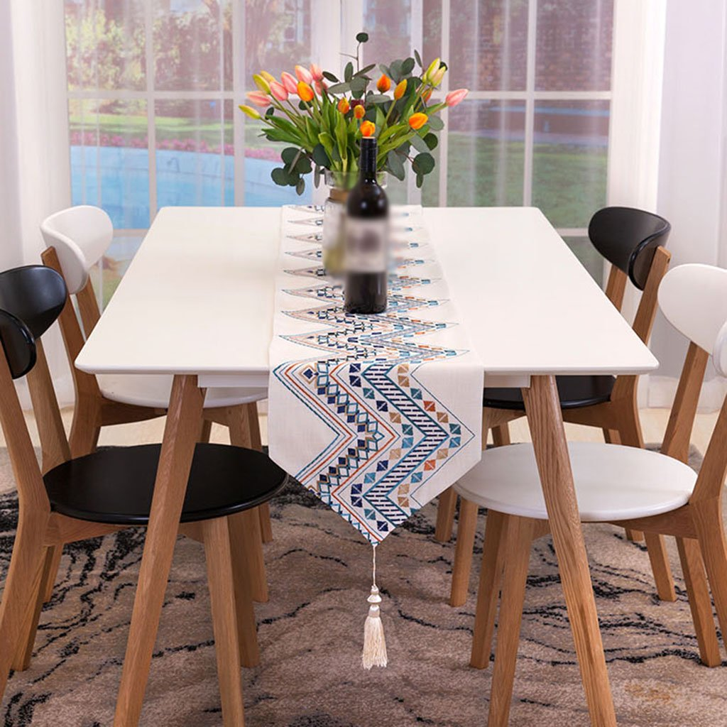 YXX- Modern Simple Cotton Lattice Table Runner Mesa de de de Comedor Escritorio de Cafeacute; Shoebox TV Gabinete Lavadora Hotel Piano Mantel Cubierta Toalla (Tamantilde;o : 32200cm) 4d1662