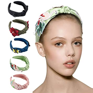 Amazon.com   CREAMPP Cute Flamingos Turban Headbands for Girls Kids Wide Non -slip Headband Hair Bands Vintage Hair Accessories for Fashion   Beauty 66b87eeee6e1