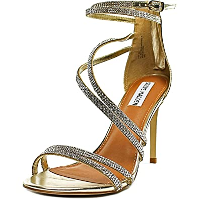 Amazon.com | Steve Madden Womens Open Toe Ankle Strap Classic Pumps, Gold  Multi, Size 6.5 | Pumps
