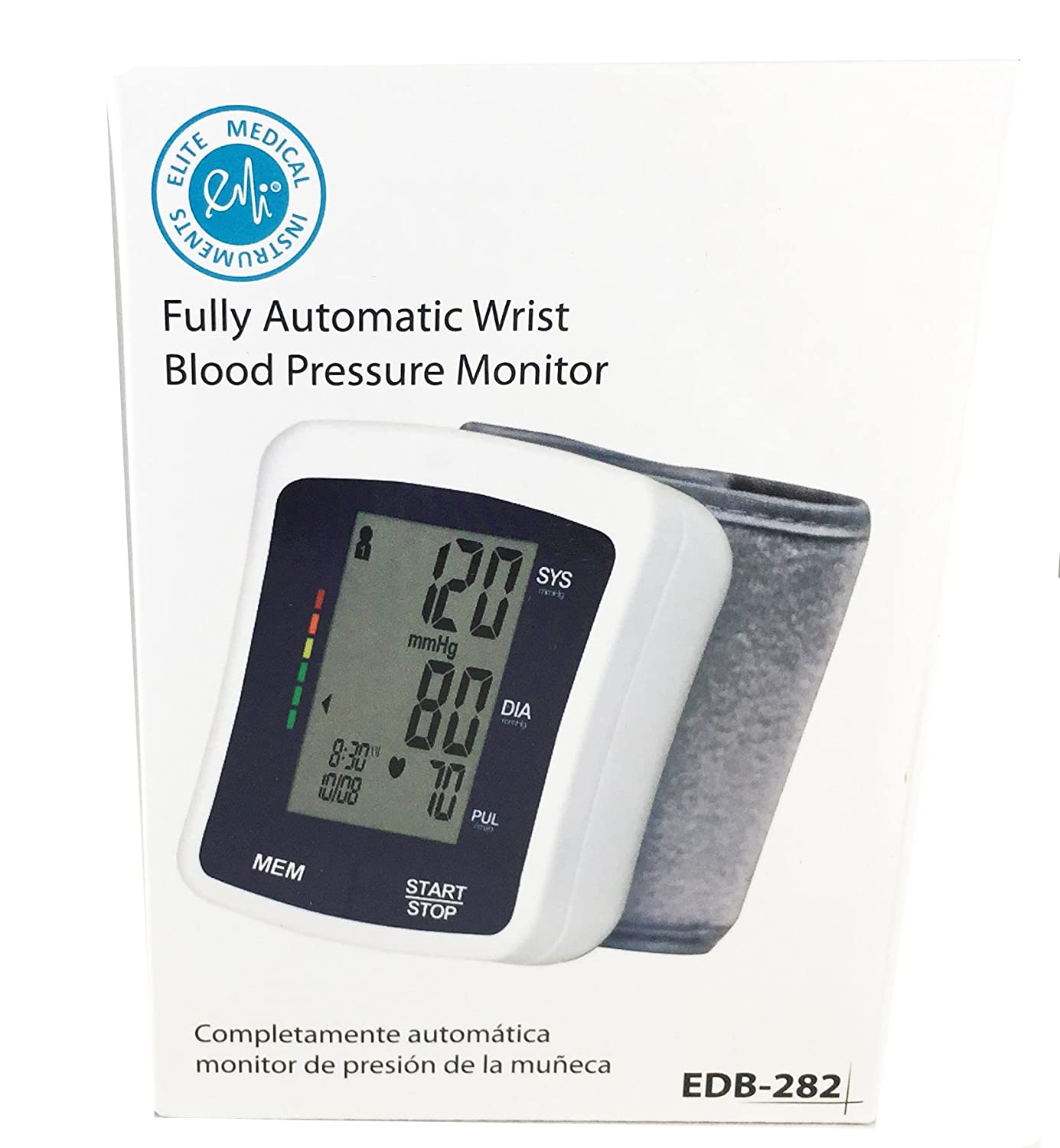 Amazon.com: EMI Wrist Automatic Digital Blood pressure Monitor with Case: Health & Personal Care