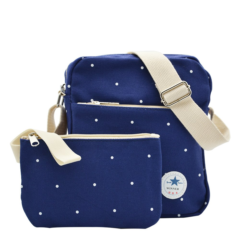 7a8a76eecbea Amazon.com  College Shoulder Backpacks Student School Book Bag Canvas  Laptop Lightweight Bag Deep Blue  Toys   Games