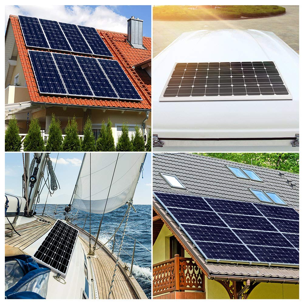 DOKIO 200 Watts Solar Panel 2pcs 100w Polycrystalline Ideal For 12V Battery Charging On Home Boats Caravans Motorhome RV