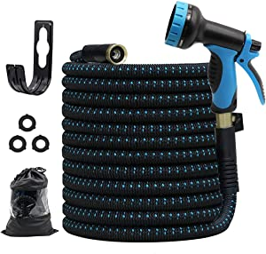 GUKOK 75ft Garden Hose, All New 2021 Expandable Water Hose with 3/4