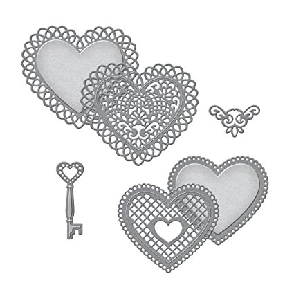 Amazon.com: Spellbinders S5-204 Shapeabilities Lace Hearts Die Templates